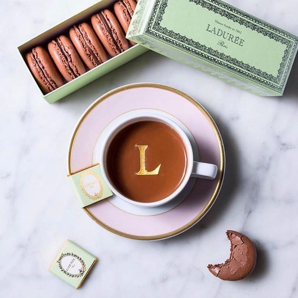The classic hot chocolate can include your choice of alcohol. [Photo: Laduree]