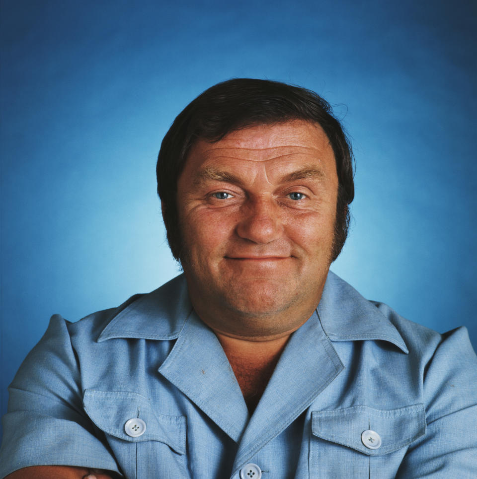 English comedian Les Dawson smiling, 1977. (Photo by Tony Evans/Getty Images)