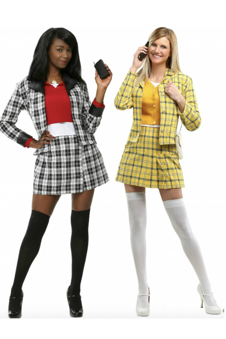 """<p>halloweencostumes.com</p><p><strong>$19.99</strong></p><p><a href=""""https://go.redirectingat.com?id=74968X1596630&url=https%3A%2F%2Fwww.halloweencostumes.com%2Fclueless-dee-costume.html%3FPCID%3D20%26network%3DCJ%26affiliate_id%3D5370367%26link_id%3D10870827%26cjevent%3D4fa4413cd8fb11eb8244a3ae0a82b82a&sref=https%3A%2F%2Fwww.goodhousekeeping.com%2Fholidays%2Fhalloween-ideas%2Fg21965973%2Fcollege-halloween-costumes%2F"""" rel=""""nofollow noopener"""" target=""""_blank"""" data-ylk=""""slk:Shop Now"""" class=""""link rapid-noclick-resp"""">Shop Now</a></p><p>Dressing up with some friends? Bring together the cast of <em>Clueless </em>for Halloween with these cute getups.</p><p><strong>RELATED:</strong> <a href=""""https://www.goodhousekeeping.com/holidays/halloween-ideas/g22074138/90s-halloween-costumes/"""" rel=""""nofollow noopener"""" target=""""_blank"""" data-ylk=""""slk:35 Halloween Costumes That Throw It Back to the '90s"""" class=""""link rapid-noclick-resp"""">35 Halloween Costumes That Throw It Back to the '90s</a></p>"""
