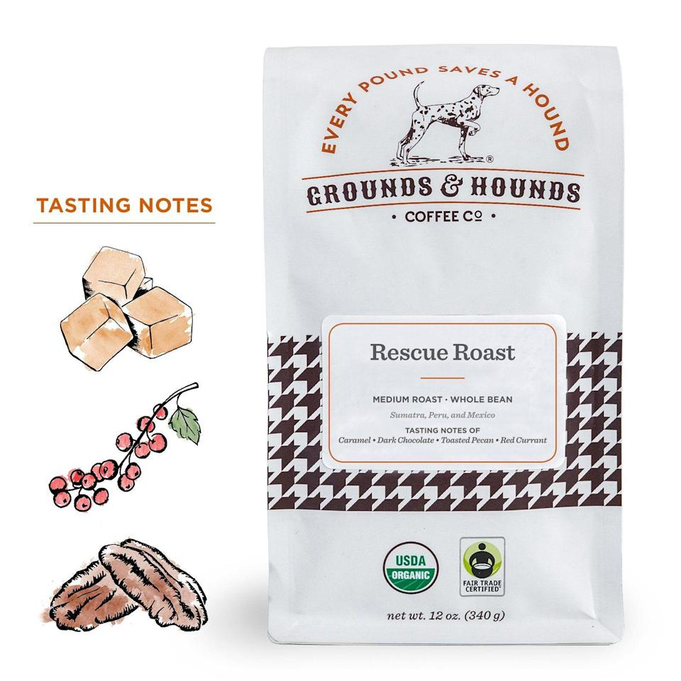 "<p>groundsandhoundscoffee.com</p><p><strong>$14.99</strong></p><p><a href=""https://groundsandhoundscoffee.com/collections/coffee-homepage/products/rescue-roast"" rel=""nofollow noopener"" target=""_blank"" data-ylk=""slk:SHOP NOW"" class=""link rapid-noclick-resp"">SHOP NOW</a></p><p>Start your mornings off right by knowing that your daily cup of coffee is helping a furry friend. All proceeds from Grounds&Hounds Rescue Roast are donated to a new rescue organization every month. Currently, proceeds go to Cleveland Animal Protective League, which ensure healthy lives for pups, through all the highs and lows of life. </p>"