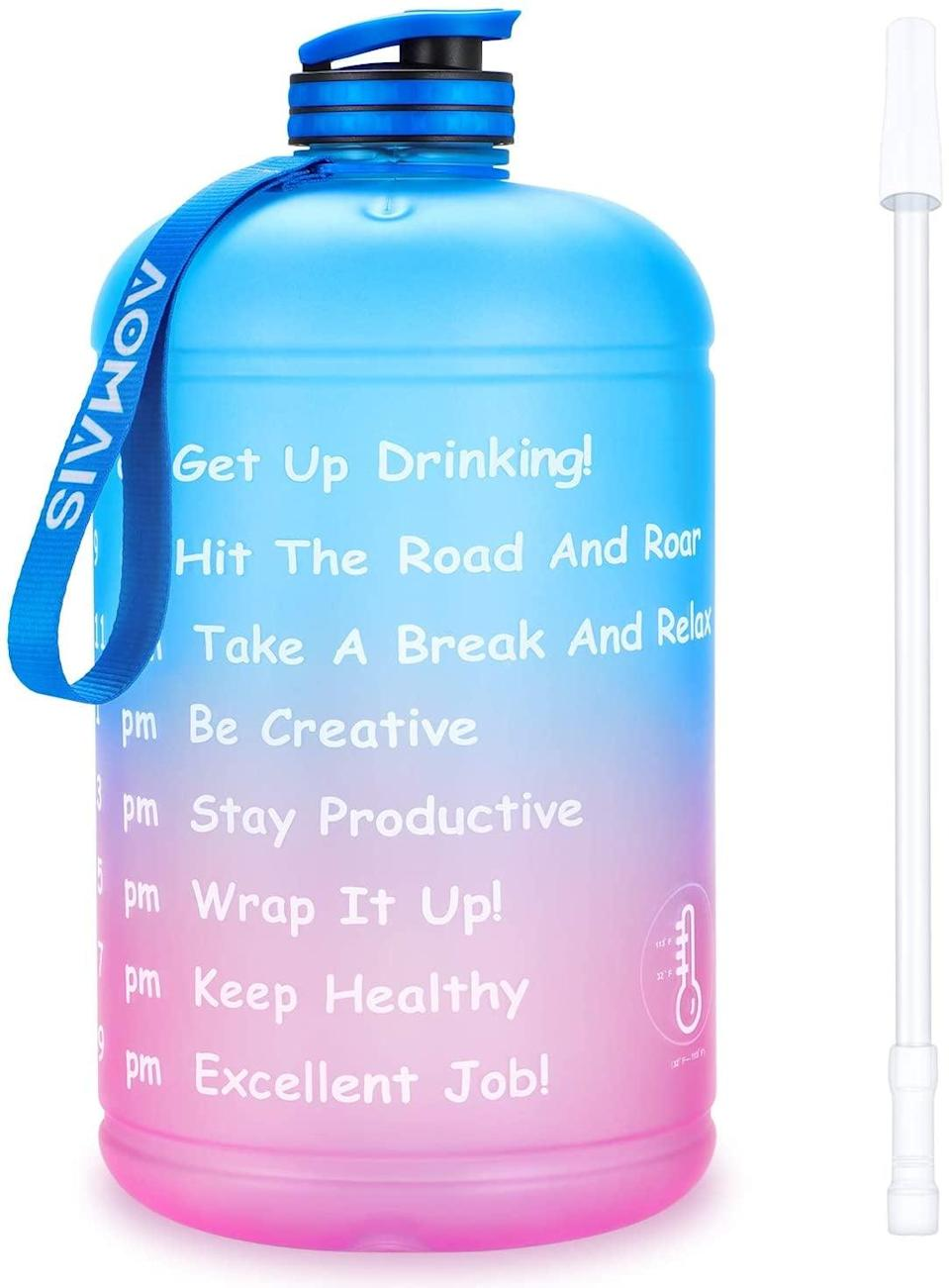 <p><span>Aomais Gallon Water Bottle With Motivational Time Marker</span> ($14, originally $18)</p>