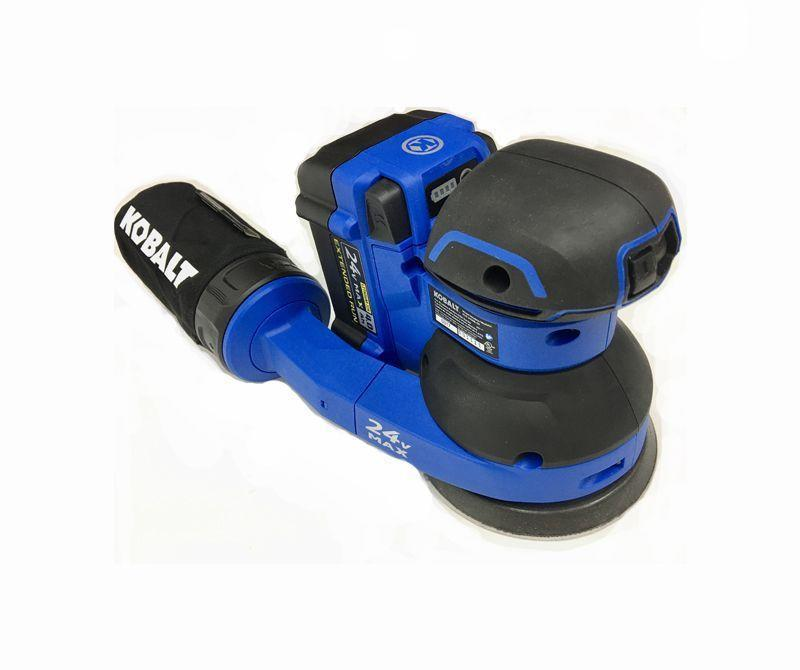 """<p><strong>Kobalt</strong></p><p>lowes.com</p><p><strong>$89.00</strong></p><p><a href=""""https://go.redirectingat.com?id=74968X1596630&url=https%3A%2F%2Fwww.lowes.com%2Fpd%2FKobalt-Brushless-24-Volt-Brushless-Random-Orbital-Sander%2F1000226429&sref=https%3A%2F%2Fwww.popularmechanics.com%2Fhome%2Ftools%2Fg26626730%2Fpower-sanders%2F"""" rel=""""nofollow noopener"""" target=""""_blank"""" data-ylk=""""slk:Buy Now"""" class=""""link rapid-noclick-resp"""">Buy Now</a></p><p><strong>Weight</strong><strong>: </strong>6.5 lb. <br><strong>Battery</strong><strong>:</strong> 4.0 Ah, 24 V<br><br>If you've already invested in the Kobalt 24-volt power tool system, you can feel good adding this to your fleet. Although it's heavy, in part due to our equipping it with a 4-amp hour battery, it packs a fair amount of sanding power. Part of that is due to its weight bearing down on the surface. In any case, it will get you a finish-ready surface in no time. We found its dust collection to be very good, while its vibration isolation is pretty good—just not so much as most of our corded models. The KOS450B-03 sands smoothest and with reduced vibration on its full-speed setting, so we recommend turning the speed dial to six and leaving it there. That's not a complaint, just an observation. But we do have a beef with the fact that the tool isn't available as a kit, only bare. A big deal? No. But be aware of that when you go to buy it.</p>"""