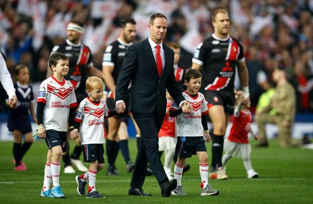 Justin Holbrook leaves St Helens as a Super League winning coach (Martin Rickett/PA)
