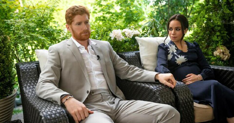 Meghan Markle and Prince Harry's character in Lifetime movie