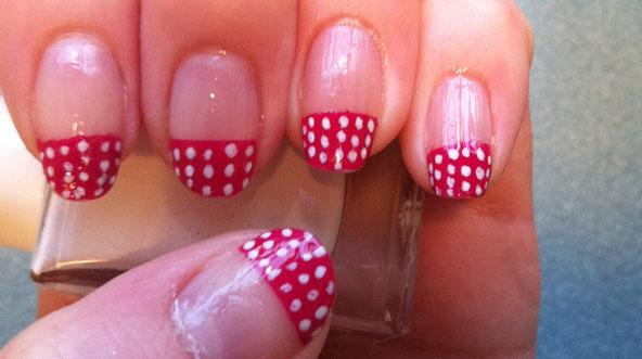 Polka-Dot Nail Tips