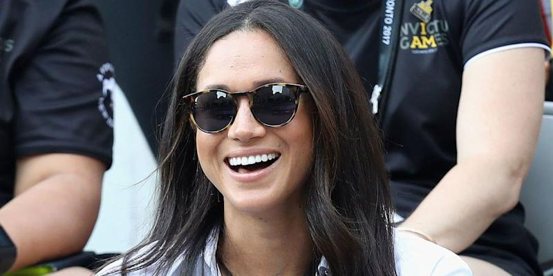 8e35f4a16cf These  3 Sunglasses Look Just Like Meghan Markle s. Katie Frost. Marie  Claire April 18