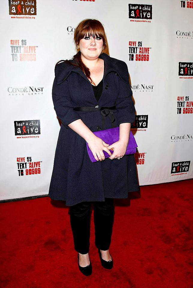 "British soul singer Adele was another international star to lend her support. B. Ach/<a href=""http://www.infdaily.com"" target=""new"">INFDaily.com</a> - November 13, 2008"
