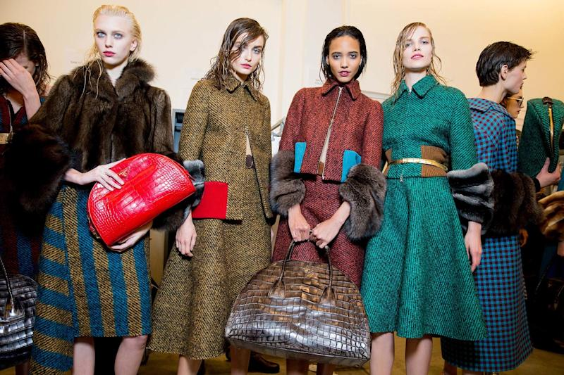 That model-off-duty, I-literally-just-hopped-out-of-the-shower look found form at Prada's Fall 2013 runway show, which showcased purposefully damp hair that toed the line between insouciant and broodingly mysterious.