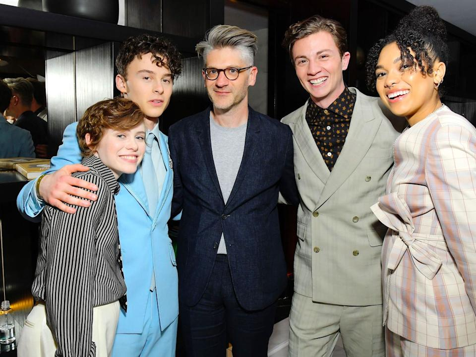 "Sophia Lillis, Wyatt Oleff, Jonathan Entwistle, Richard Ellis, and Sofia Bryant attends the premiere of Netflix's ""I AM NOT OKAY WITH THIS"" Getty Images"