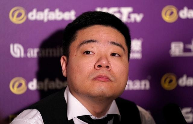 Ding Junhui is ill at ease in Milton Keynes