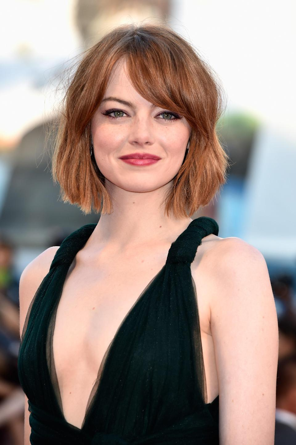 """When Emma Stone went to register for her SAG card, she was unable to use her real name, Emily Stone, because another actor had already filed under it. She chose Riley instead, before realizing it was a little <em>too</em> different from her birth name. """"I landed a guest spot on <em>Malcolm in the Middle</em>, and one day they were calling, 'Riley! Riley! Riley! We need you on set, Riley!' and I had no idea who they were talking to,"""" Stone <a href=""""https://www.wmagazine.com/gallery/emma-stone-natalie-portman-michelle-williams-and-more-are-the-best-performances-of-the-year/?mbid=synd_yahoo_rss"""" rel=""""nofollow noopener"""" target=""""_blank"""" data-ylk=""""slk:told W Magazine"""" class=""""link rapid-noclick-resp"""">told <em>W Magazine</em></a>. She started using Emma but says she """"would love"""" to get back to using Emily some day."""