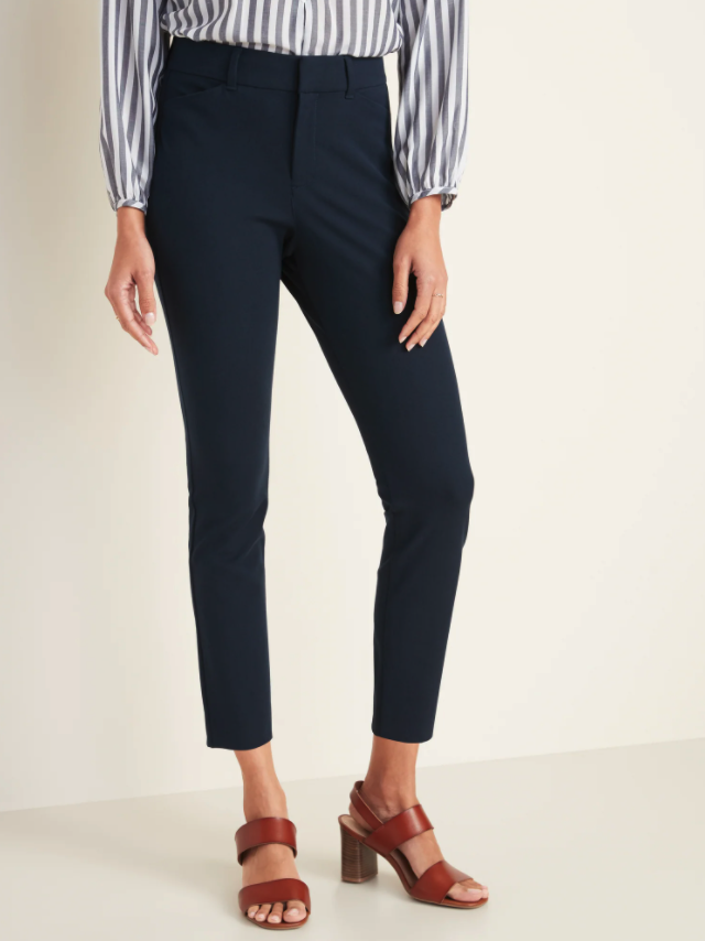High-Waisted Pixie Ankle Pants. Image via Old Navy.