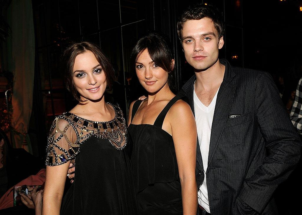 "Leighton Meester and Minka Kelly (pictured with a guest) are two beautiful brunettes who look as if they could be related as well. Larry Busacca/<a href=""http://www.wireimage.com"" target=""new"">WireImage.com</a> - May 13, 2008"