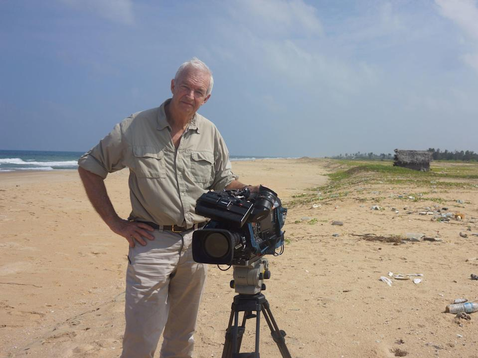 Snow reporting  from Sri Lanka in 2016Channel 4 News/PA