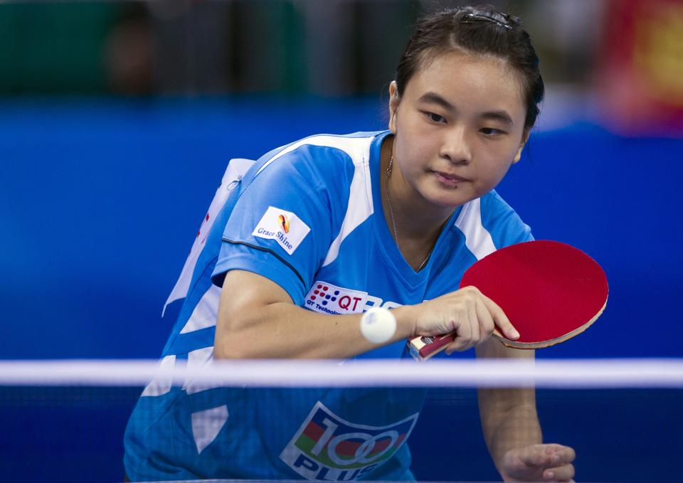 Isabelle Li at the World Team Classic Table Tennis in 2013. AFP PHOTOSTR/AFP/Getty Images