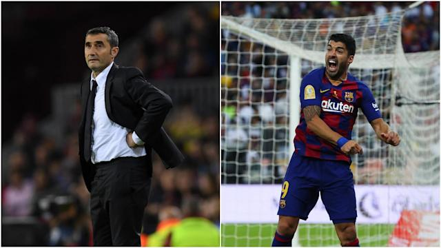 Luis Suarez paid tribute to Ernesto Valverde after the under-pressure coach was sacked by Barcelona on Monday.
