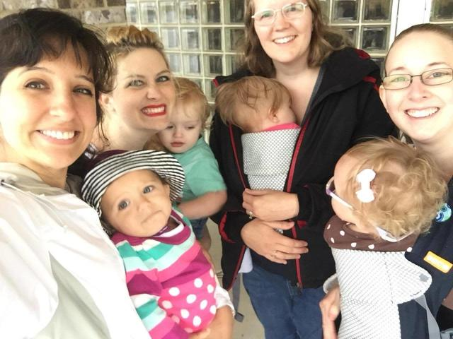 Tacey and her daughter, left, found support from other breastfeeding moms in Alabama. (Photo: Courtesy of Tacey Ruha)