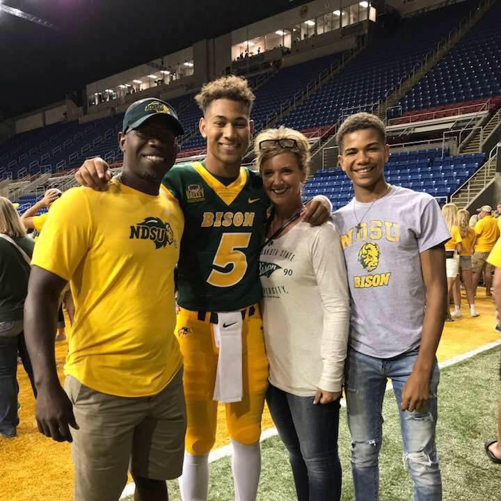 North Dakota State quarterback Trey Lance is shown with his family. (Photo credit: Lance family)