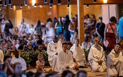 The archbishop joined the brothers of the Taizé community for a service at the pilgrimage site in central France - Credit: Charlotte Graham/Charlotte Graham