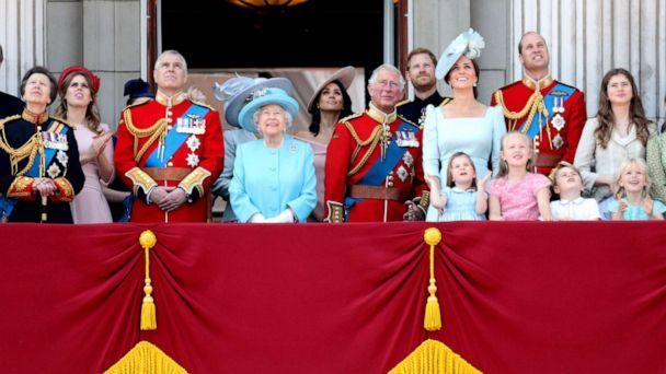PHOTO: The Royal family watch the Trooping The Colour on the balcony at Buckingham Palace, June 9, 2018, in London. (Chris Jackson/Getty Images, FILE)