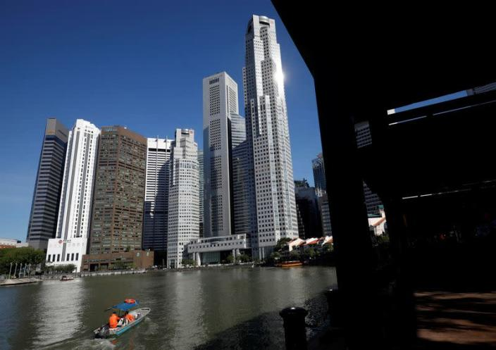 FILE PHOTO: A view of the central business district in Singapore