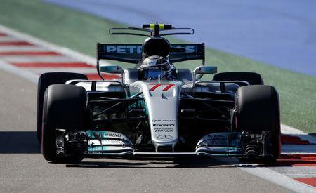 Formula One - F1 - Russian Grand Prix - Sochi, Russia - 29/04/17 - Mercedes Formula One driver Valtteri Bottas of Finland drives during the qualifying session. REUTERS/Maxim Shemetov