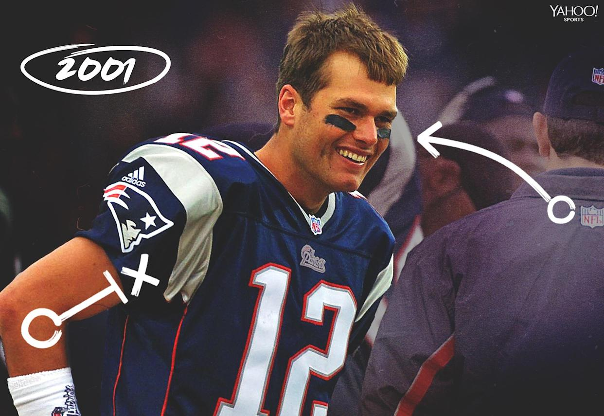 Tom Brady was 24 when he led the Patriots to the Super Bowl in the 2001 season. (Getty)