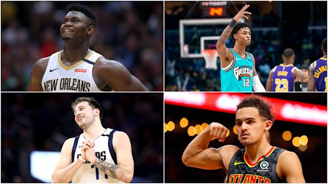Zion Williamson, Ja Morant and Luka Doncic will be among the headline acts in the NBA Rising Stars Challenge.