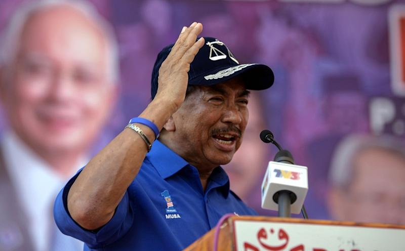 Former Sabah chief minister Datuk Seri Musa Aman (pic) is wanted for investigation into alleged criminal intimidation over a report lodged by State Governor Tun Juhar Mahiruddin. — Bernama pic