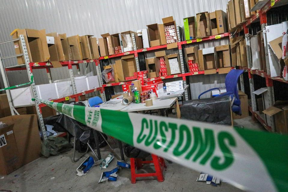The haul was about 65 per cent of the 205 million illicit cigarettes confiscated last year. Photo: May Tse