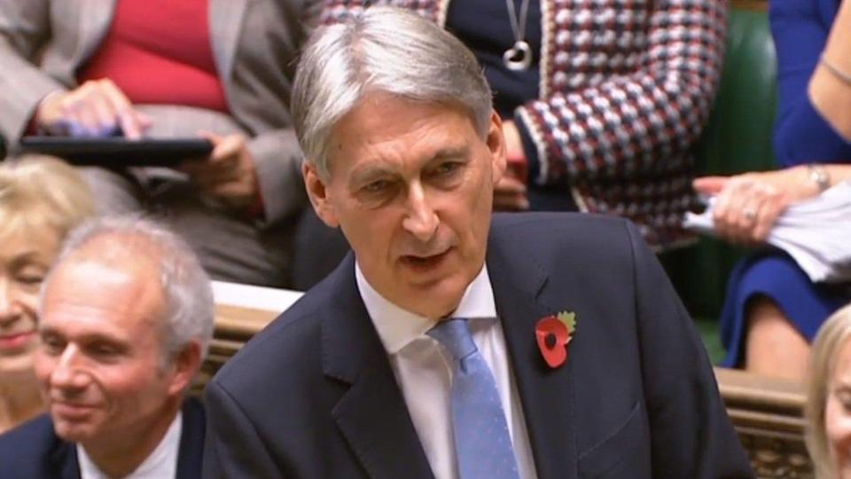 UK chancellor Philip Hammond unveiling the final budget before Brexit in the House of Commons. Photo: HuffPost