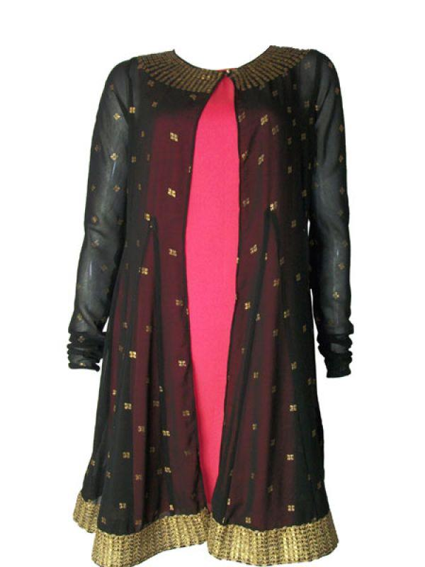 <p><strong>Image courtesy : iDiva.com</strong></p><p><strong>What</strong>: Layered kurta<br /><strong>Why we like</strong>: The gold embossed black sheer jacket over a simple pink tunic looks great.<br /><strong>Price</strong>: Rs.1099<br /><strong>Where to buy</strong>: Global Desi outlets across the country</p><p><strong>Related Articles - </strong></p><p><a href='http://idiva.com/photogallery-style-beauty/5-hot-ethnic-wear-trends/16258' target='_blank'>5 Hot Ethnic Wear Trends</a></p><p><a href='http://idiva.com/news-style-beauty/lfw-winter-festive-2012-gothic-chic-on-day-one/14641' target='_blank'>LFW Winter Festive 2012: Gothic Chic on Day One</a></p>