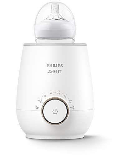 """<p><strong>Philips AVENT</strong></p><p>amazon.com</p><p><strong>$49.99</strong></p><p><a href=""""https://www.amazon.com/dp/B0876T9DQZ?tag=syn-yahoo-20&ascsubtag=%5Bartid%7C10055.g.34701707%5Bsrc%7Cyahoo-us"""" rel=""""nofollow noopener"""" target=""""_blank"""" data-ylk=""""slk:Shop Now"""" class=""""link rapid-noclick-resp"""">Shop Now</a></p><p><strong>In as little as three quick minutes, the Philips Avent Fast Baby Bottle Warmer will have your baby milk warm and toasty.</strong> It features smart temperature control that detects the milk's initial temperature to prevent milk and food from overheating. When it reaches the optimal temperature, the indicator light tells you when the bottle is ready and keeps it warm for up to 60 minutes before automatically shutting off. It also has a setting for frozen milk or purees and heats by continuously circulating water to ensure there are no hot spots. Avent also offers a <a href=""""https://www.amazon.com/dp/B00LJ64JR4/?cstrackid=b26e9d8c-e131-4c5b-87d3-f6749985057e&tag=thebump-generic-20"""" rel=""""nofollow noopener"""" target=""""_blank"""" data-ylk=""""slk:less expensive option warmer"""" class=""""link rapid-noclick-resp"""">less expensive option warmer</a>, but it does not come with auto shut-off.</p>"""