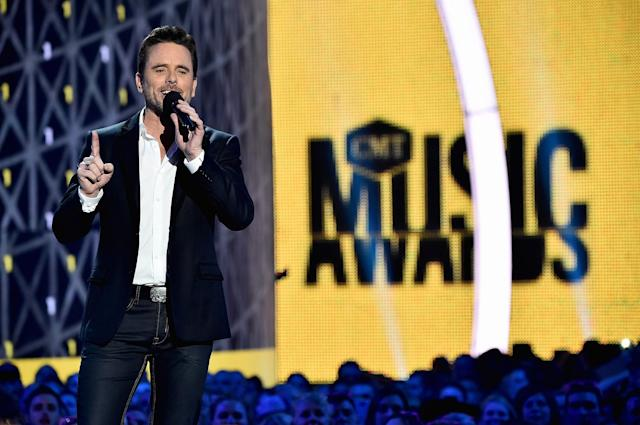 <p>Host Charles Esten speaks onstage during the 2017 CMT Music Awards at the Music City Center on June 6, 2017 in Nashville, Tennessee. (Photo by Michael Loccisano/Getty Images for CMT) </p>