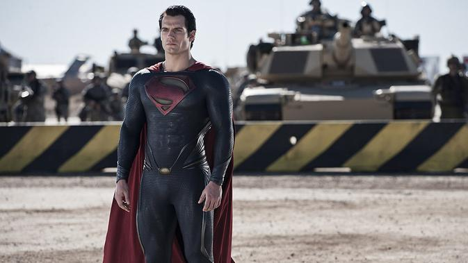 Superman di Man of Steel. (Warner Bros)