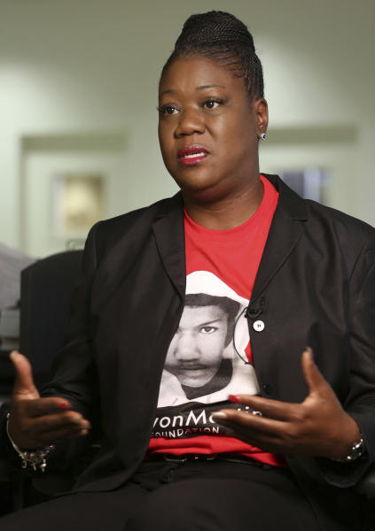 <p> FILE- This Feb. 25, 2015 file photo shows Sybrina Fulton, mother of Trayvon Martin, in Miami. Fulton is against a line of insurance offered by the NRA for gun owners to cover not only civil liability but costs associated with any criminal charges whenever a gun owner uses their firearm in what they call a self-defense or stand your ground case. (AP Photo/Marta Lavandier, File) </p>