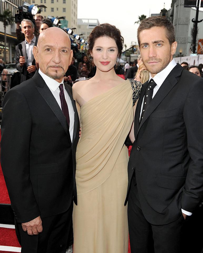 """<a href=""""http://movies.yahoo.com/movie/contributor/1800026534"""">Ben Kingsley</a>, <a href=""""http://movies.yahoo.com/movie/contributor/1809853072"""">Gemma Arterton</a> and <a href=""""http://movies.yahoo.com/movie/contributor/1800019221"""">Jake Gyllenhaal</a> at the Los Angeles premiere of <a href=""""http://movies.yahoo.com/movie/1810041991/info"""">Prince of Persia: The Sands of Time</a> - 05/17/2010"""