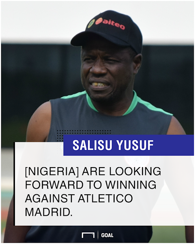 Ahead of Tuesday's friendly, the Super Eagles B handler is setting his sights on subduing the new Europa League kings