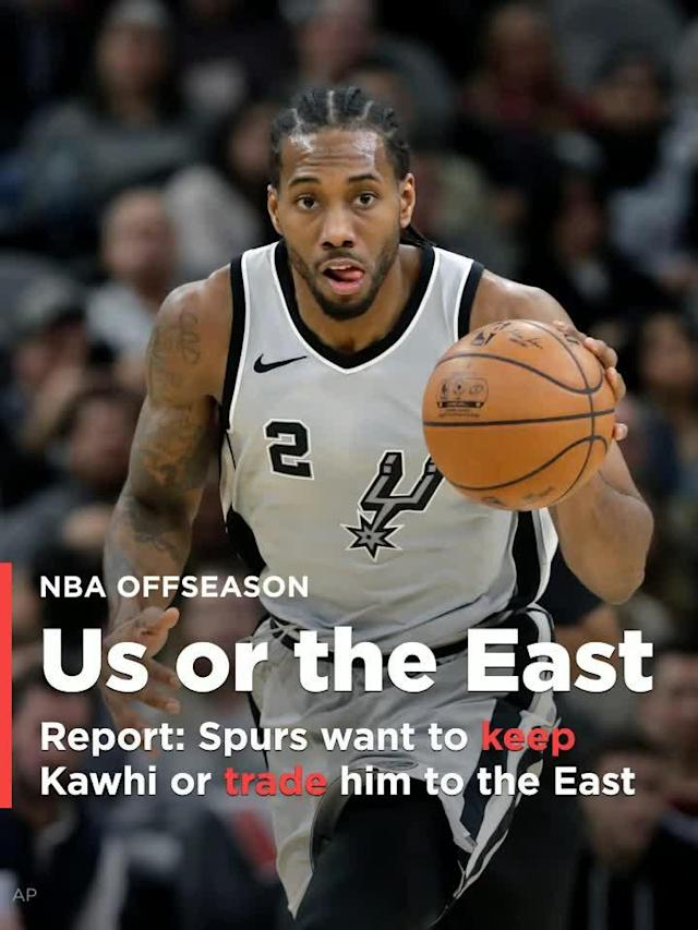 It appears the San Antonio Spurs are contingent on keeping Leonard or trading him to a team in the Eastern Conference, according to a Saturday report by USA Today.