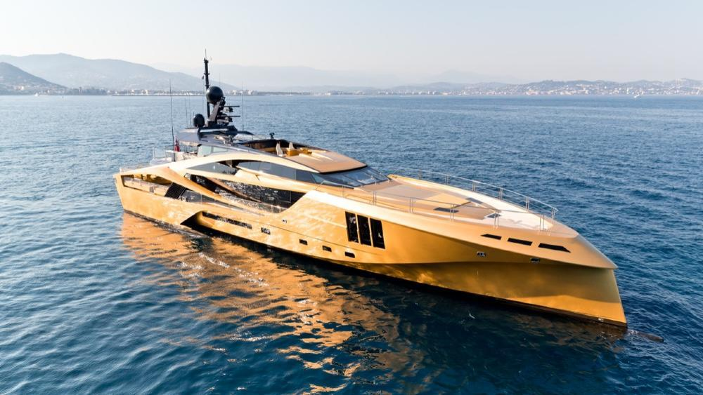 This 160-Foot All-Carbon Superyacht Is Like a Bond Villain Lair That Floats