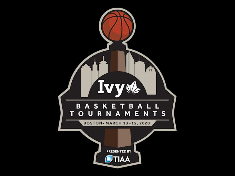 2020 THE IVY LEAGUE BASKETBALL TOURNAMENTS logo, graphic element on black