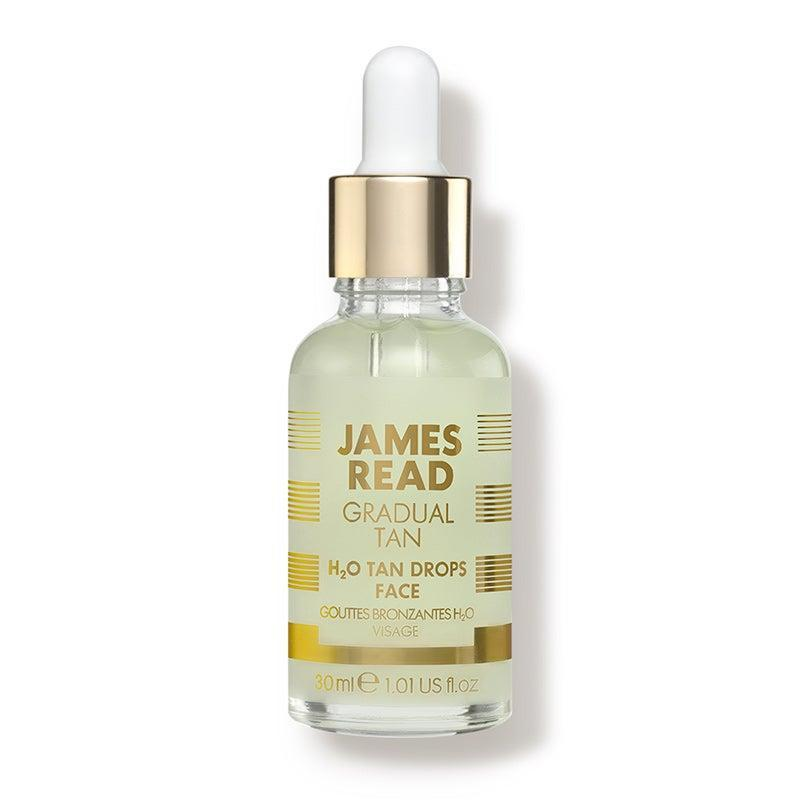 """<h3>James Read H2O Tan Drops Face</h3><br>James Read's water-based serum is formulated with a blend of aloe vera and <a href=""""https://www.refinery29.com/en-us/should-i-use-hyaluronic-acid#:~:text=Hyaluronic%20acid%20works%20by%20absorbing,of%20pulling%20it%20toward%20it.&text=%22It's%20really%20meant%20as%20a,Shamban%20says."""" rel=""""nofollow noopener"""" target=""""_blank"""" data-ylk=""""slk:hyaluronic acid"""" class=""""link rapid-noclick-resp"""">hyaluronic acid</a> to give dry skin a boost of moisture and prevent the tanner from clumping, streaking, or seeping into dry patches.<br><br><strong>James Read Tan</strong> H2O Tan Drops Face (30 ml.), $, available at <a href=""""https://go.skimresources.com/?id=30283X879131&url=https%3A%2F%2Fwww.dermstore.com%2Fproduct_H2O%2BTan%2BDrops%2BFace_76000.htm%3Fgclid%3DEAIaIQobChMI8oiZ8sDK6gIVDgiICR1tPAkpEAQYBSABEgKOvPD_BwE%26utm_source%3DPaidSearch-GoogleShopping-Google%26utm_campaign%3D9588290594%26utm_medium%3DCPC%26utm_content%3D102666428047%26utm_term%3Dpla-335168094656%26scid%3Dscplp76000%26sc_intid%3D76000"""" rel=""""nofollow noopener"""" target=""""_blank"""" data-ylk=""""slk:DermStore"""" class=""""link rapid-noclick-resp"""">DermStore</a>"""