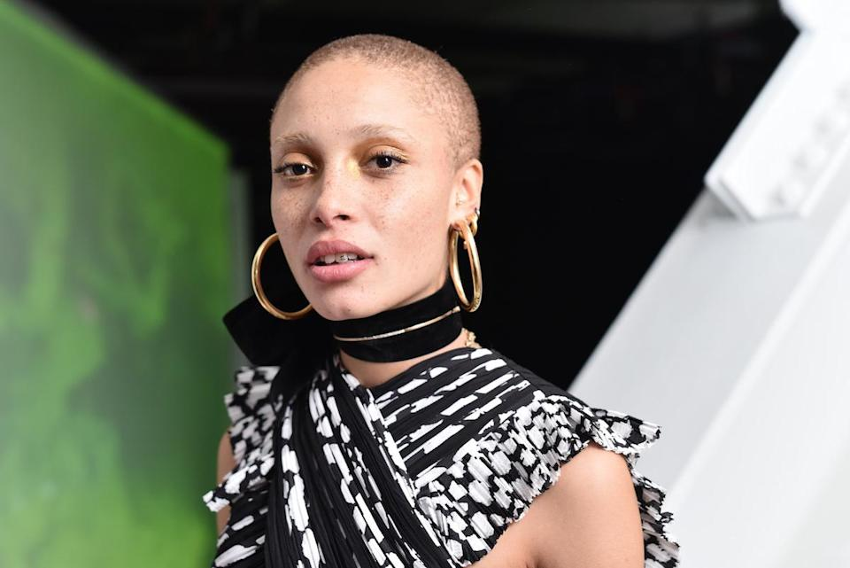 <p>The model wears Jennifer Fisher Samira Hoop earrings at the F is for Fendi Launch Party in New York. (Photo: Jared Siskin/Patrick McMullan via Getty Images) </p>