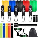 <p>Create the an at-home gym without taking up too much room with this <span>Colorsmoon Resistance Bands Set 16PCS</span> ($26).</p>