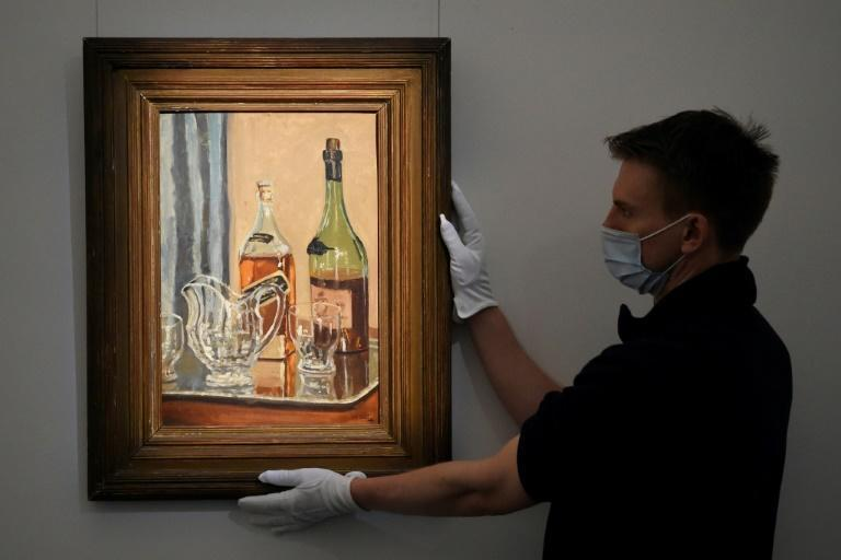 "Churchill's ""Jug with Bottles"" is expected to sell for up to £250,000 after online bidding starts Tuesday"