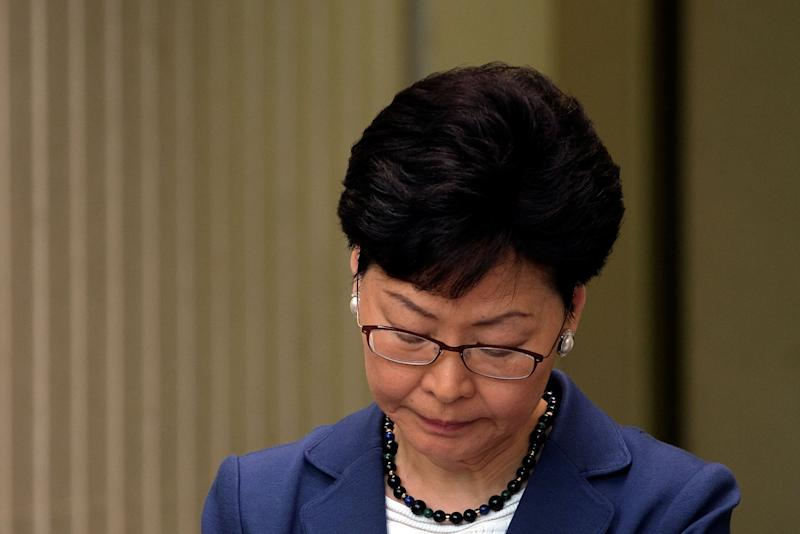 Hong Kong chief executive Carrie Lam during a news conference about the bill on June 10. (Photo: Tyrone Siu / Reuters)