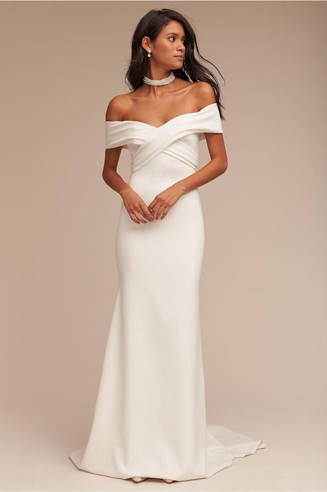 """<p><em>""""Blake"""" gown, $900, Theia available at <a rel=""""nofollow"""" href=""""http://www.bhldn.com/?mbid=synd_yahoostyle"""">BHLDN</a></em></p>"""