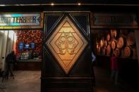 The entrance to the Butterbeer bar is pictured in New York City
