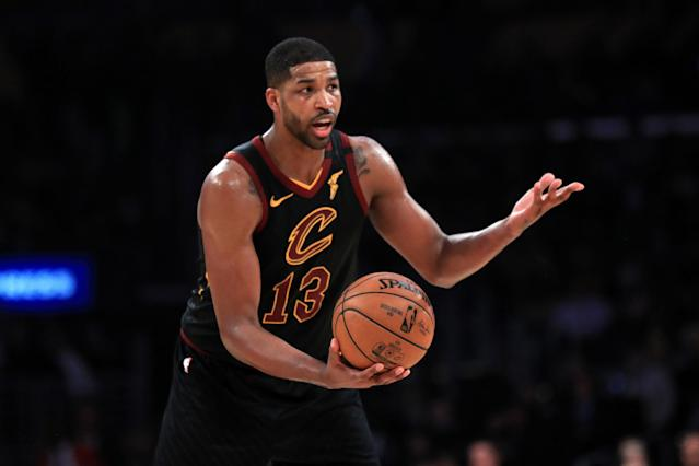 Tristan Thompson earned his second technical on Friday night after slapping Grizzlies forward Jae Crowder in the butt. (Sean M. Haffey/Getty Images)