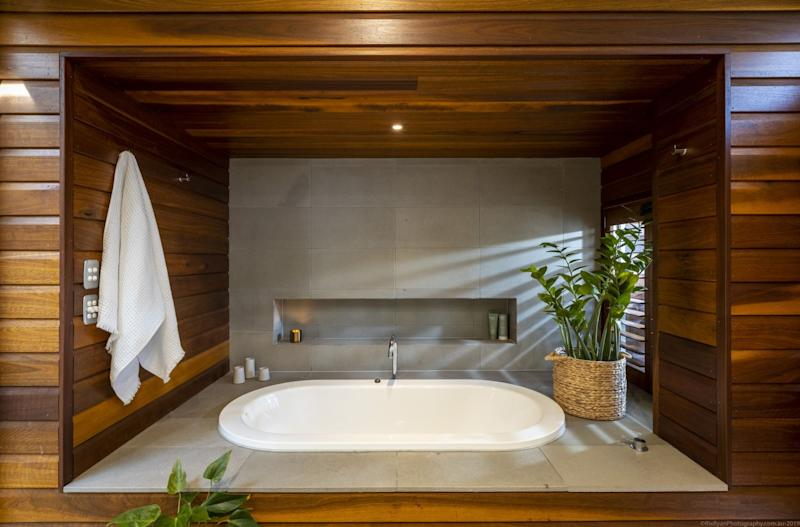 One of the bathrooms in Shelley Craft's Byron Bay home